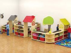 Daycare Design, Classroom Design, School Design, Preschool Learning Activities, Preschool Classroom, Kindergarten, Play Corner, Kids Corner, Preschool Furniture
