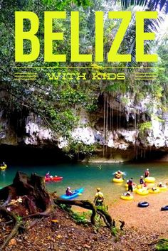 BELIZE with kids. This tropical paradise has long been known for it's astounding scuba diving but it is also paradise for family travel. Where to stay and family friendly activities in Belize are included in this article.