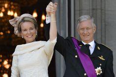 koning Filip en koningin Mathilde van Belgie ! 21.07.2013