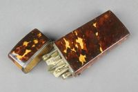 Lot No 250 A 19th Century tortoiseshell cased 9 piece geometry set comprising ivory gauge, parallel ruler, folding gauge and 6 brass instruments, sold for £500