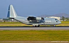 """AVIONES DE TRANSPORTE MILITAR DE AMÉRICA DEL SUR: Lockheed Martin C-130B/H """"Hércules"""" (4 aviones) - Fuerza Aérea de Chile."""