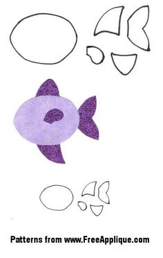Free Felt Craft Patterns | Free fish patterns to use as patterns for applique, quilting or ...