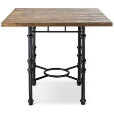 Bralton Counter Height Dining Table (315 CAD) ❤ liked on Polyvore featuring home, furniture, tables, dining tables, weathered wood furniture, industrial furniture, distressed wood dining table, distressed wood table and weathered wood dining table