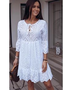 Платье Размеры 42-44-46-48 Турция 2500 Pretty Short Dresses, Nice Dresses, Casual Dresses, Summer Dresses, Lace Dress Styles, Ankara Gown Styles, Infinity Dress Ways To Wear, African Wear Dresses, Dress Outfits