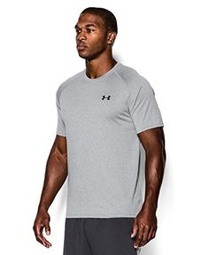 Under Armour Men's Tech Short Sleeve Tee, True Gray Heather (025), 3X-Large - http://www.exercisejoy.com/under-armour-mens-tech-short-sleeve-tee-true-gray-heather-025-3x-large/athletic-clothing/