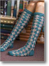 entrelac socks - in HP colors