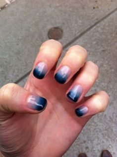love this navy ombre