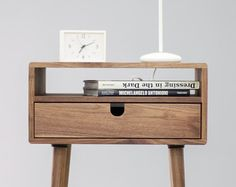 Floating Nightstand with Drawer in Walnut / Mid by KrovelMade