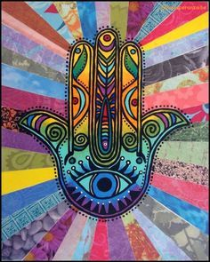 Want to see art related to hamsa? Scroll through inspiring examples of artwork on DeviantArt and find inspiration from our network of talented artists. Psychedelic Art, Elefante Hindu, Hamsa Art, Psy Art, Spiritual Symbols, Hand Of Fatima, Jewish Art, Hippie Art, Trippy