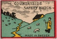 Countryside Safety Match. Made in Sweden. PSAW & Atelier Tove collections.