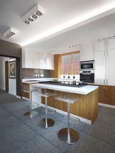 Wystrój nowoczesnej kuchni pomysłowa wyspa w kuchni