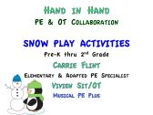 Hand in Hand PE & OT Snow Play Activities product from CarrieFlintMusicalPE on TeachersNotebook.com