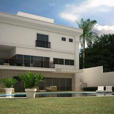 CASA NEOCLASSICA MODERNA: Casas modernas por TRAÇO FINAL ARQUITETURA E INTERIORES