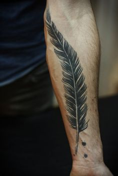 Feather and Ink Graphic tattoo idea