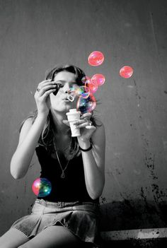 black and white, bubble, child, cute, memories, photography
