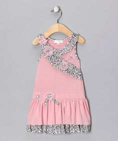 Take a look at this Pink Leopard Surplice Dress - Infant & Toddler by Baby Sara on #zulily today!