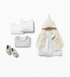 Zara Mini Baby Girls Dress with Hooded Coat