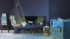 Foto: Wat een prachtige volle kleur blauw is dit. Het maakt de ruimte direct rijk en persoonlijk.. Geplaatst door Flexa op Welke.nl
