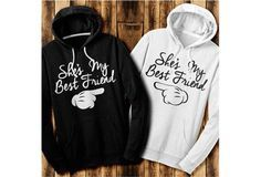 See more CRAZY, FUNNY matching BFF tees, hoodies, and sweaters in the Best Friends collection! from Skreened. Saved to Best Friends. Bff Shirts, Best Friend T Shirts, Best Friend Outfits, Best Friend Goals, Cute Shirts, Funny Shirts, My Best Friend, Best Friend Clothes, Bff Sweatshirts