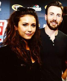Nina Dobrev & Chris Evans