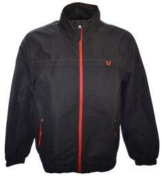 True Religion Mens Windbraker Track Jacket Size XL in Black NWT $165.00 #TrueReligion #Windbreaker
