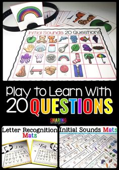 Why You Should Be Playing 20 Questions for Phonics Practice in Kindergarten and First Grade #phonics #alphabetactivities #learningtoread