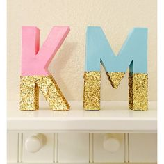 Ombre Glitter Letters Painted Glitter Letters by girlygifts07