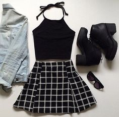 american apparel, black, blackandwhite, clothes, denim, fashion, grunge, hipster, indie, jewelry, matte, nails, pale, plaid, shoes, tumblr, watch http://spotpopfashion.com/x6ym