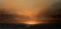 """SUNSET"" , oil painting on canvas by Natasha Marson."
