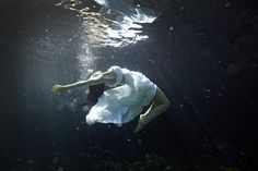 underwater cenote trash the dress