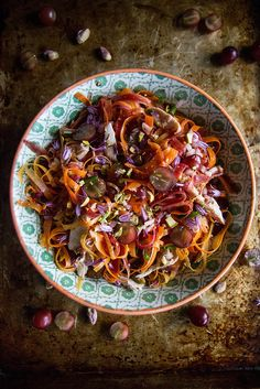 Carrot, Grape and Chicken Salad #recipe #healthy