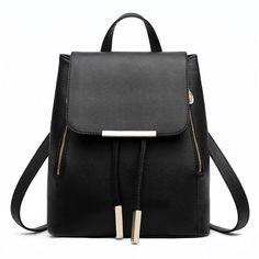 2016 novas mulheres moda mochila de couro PU Casual alta qualidade mulheres escola bolsa de viagem de compras mochilas mochila feminina em Mochilas de Bagagem & Bags no AliExpress.com | Alibaba Group