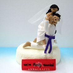 Judo, Brazilian Jiu - Jitsu mania couple custom wedding cake topper, decoration, wedding centerpiece special for wedding, engagement, anniversary,