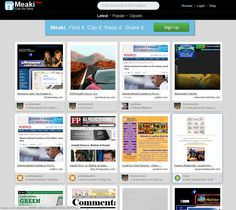 Clip, Organize And Share Web Pages With Meaki: Pinterest For Websites