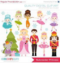 This NUTCRACKER SUITE PRINCESS clipart set includes adorable characters of the famous Ballet, The Nutcracker Suite. The fairies include, the Snow