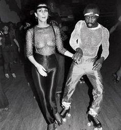 Studio 54. Cher on wheels...looking for her bra perhaps.  #Cher #studio54 #newyork