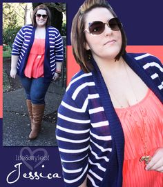 {Color Obsession \\ Blue + Tangerine} REAL Curvy Girl inspiration from Jessica Kane, her blog: Fatshion Chic