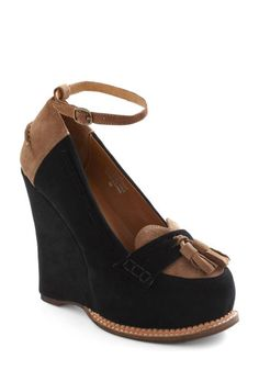 Loafer the Top Wedge, $174.99, #ModCloth. love the sweetheart front! it's so cute!