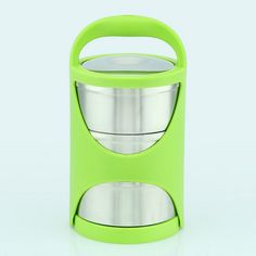 Portable Stainless Steel Thermal Insulation Food Container with Basket Multi-layer Layers Lunch Box Soup Bento Box