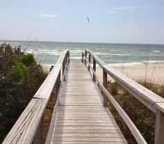 Bridge to the ocean, St. George Island, Florida (Photograph by Linda Alexander, Spring 2013)