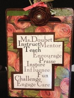 Frugal Teacher Appreciation Gift Idea - I love how it's personalized