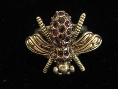 Vintage Jewelmint Red Rhinestone Bee Pin by mimisvintageshop on Etsy https://www.etsy.com/listing/235080675/vintage-jewelmint-red-rhinestone-bee-pin