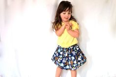 Children's Whale Skirt and Hair Bow  I Love Whales by GoobaGear, $16.99