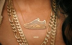Nike Air Max gold necklace. ooooooooooooommmmmmmmmmmmgggggggggggggggg