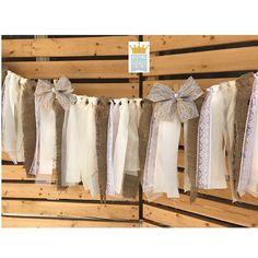 Shabby Chic Garland, Wedding Fabric Garland, Wedding Decor, Bridal Shower Garland, Lace Garland, Fabric Garland, Bridal Shower Decor