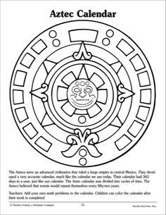 aztec calendar stone coloring page 5th grade aztec calendar aztec art. Black Bedroom Furniture Sets. Home Design Ideas