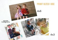 The print sizes I ALWAYS use in Project Life! Document Your Summer Memories with Project Life on www.sisterssuitcaseblog.com #projectlife