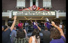 Paramount Theatre sign lighting, 09.23.15