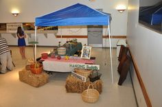 Our vendor tent display at the Corridor's business luncheon.