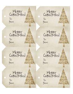 Etiquetas regalo navidad